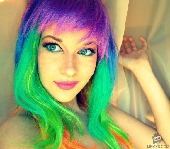 nude photos of young girls with multicolored hair