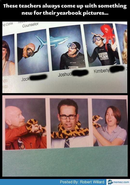Teachers Doing Yearbook Pictures Right Memes Com