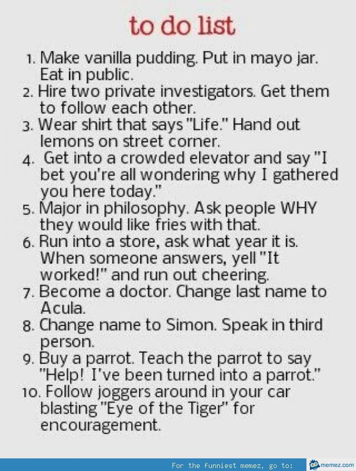 Funny To Do List Meme : Funny to do list