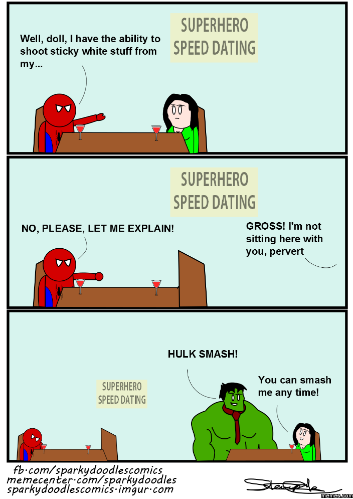 Superhero speed dating