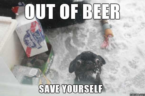 Out of beer  Memes.com