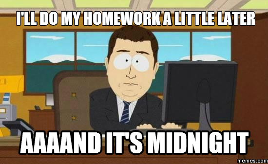i don t want to do my homework