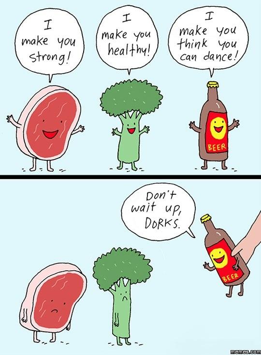 Beer VS. Fruit VS. Meat