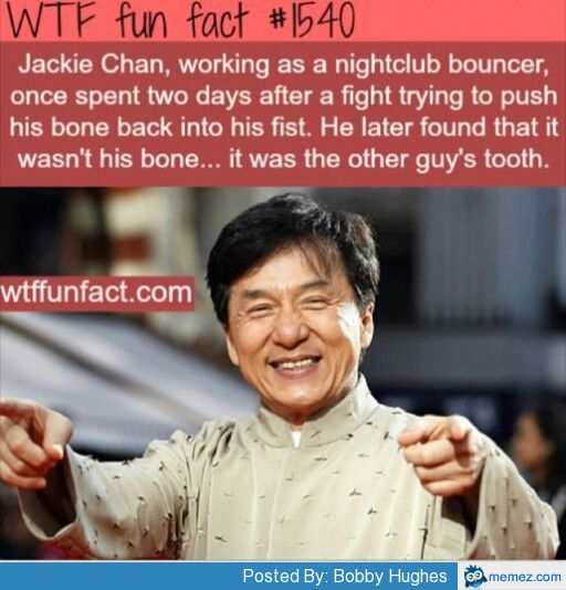 Jackie Chan working as nightclub bouncer | Memes.com