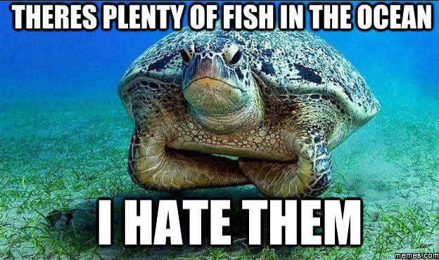 I hate all the fish in the sea for Fish in the sea meme