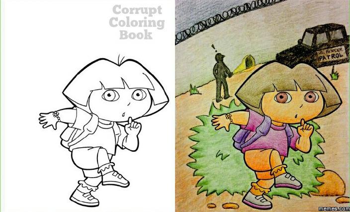 Corrupt coloring book Coloring book meme