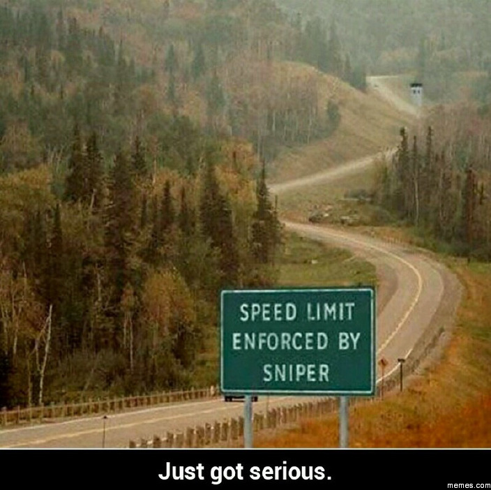 Speed limit enforced