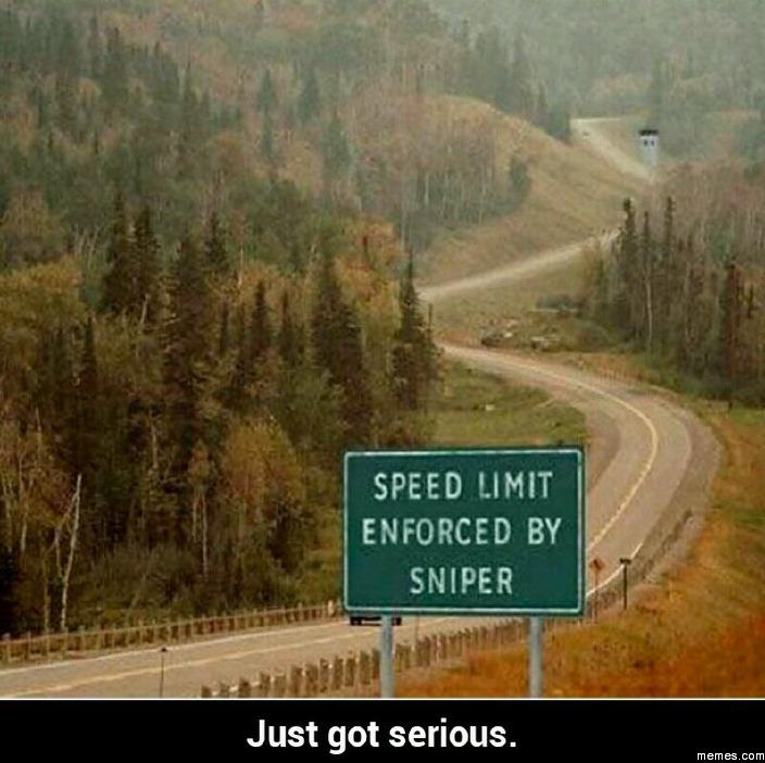 Speed limit enforced