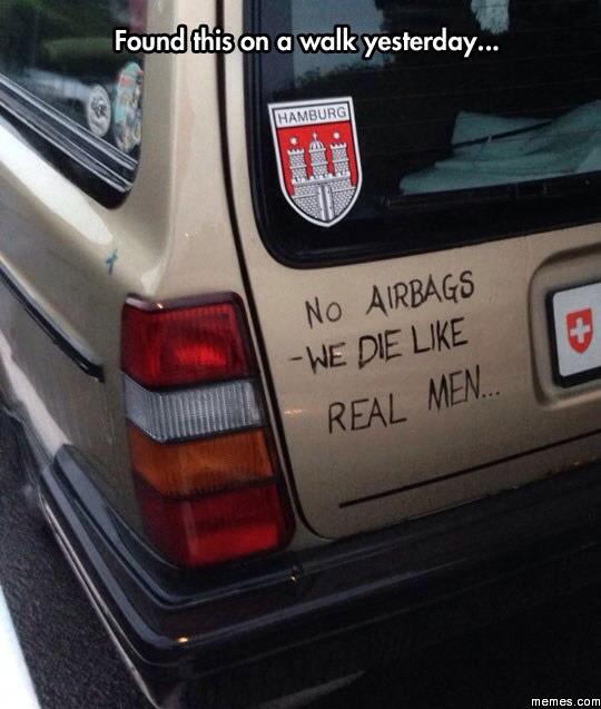 We die like real men