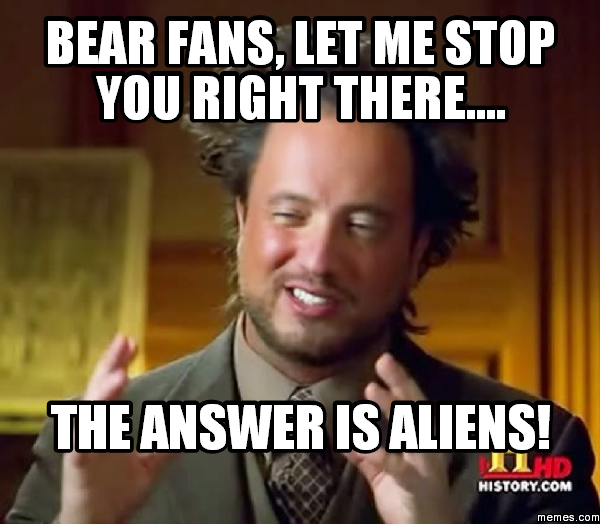Bears Fans be Like Bear Fans Let me Stop You