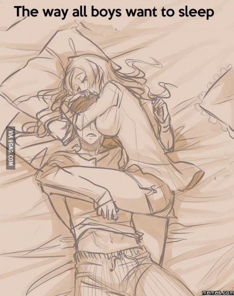 The way all boys want to sleep