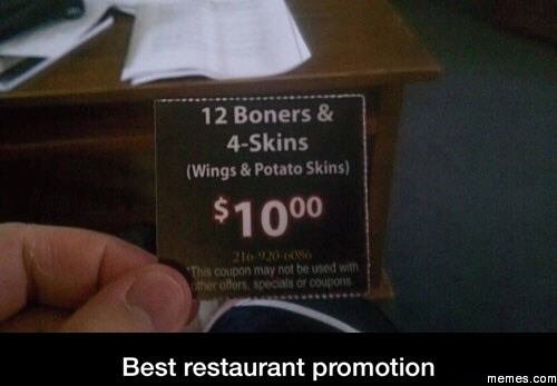Best restaurant promotion