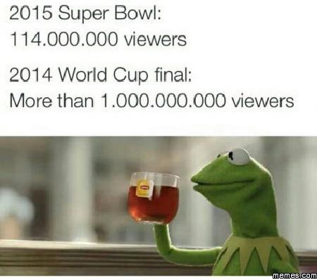 Super Bowl vs World Cup views