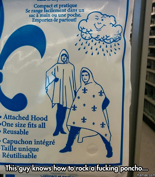 Poncho with style