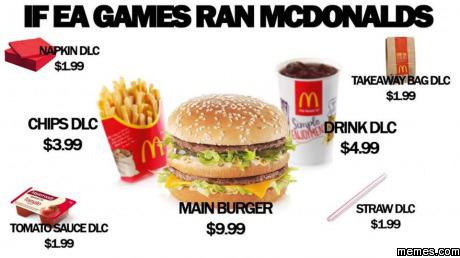 If EA ran McDonald's | Memes.com
