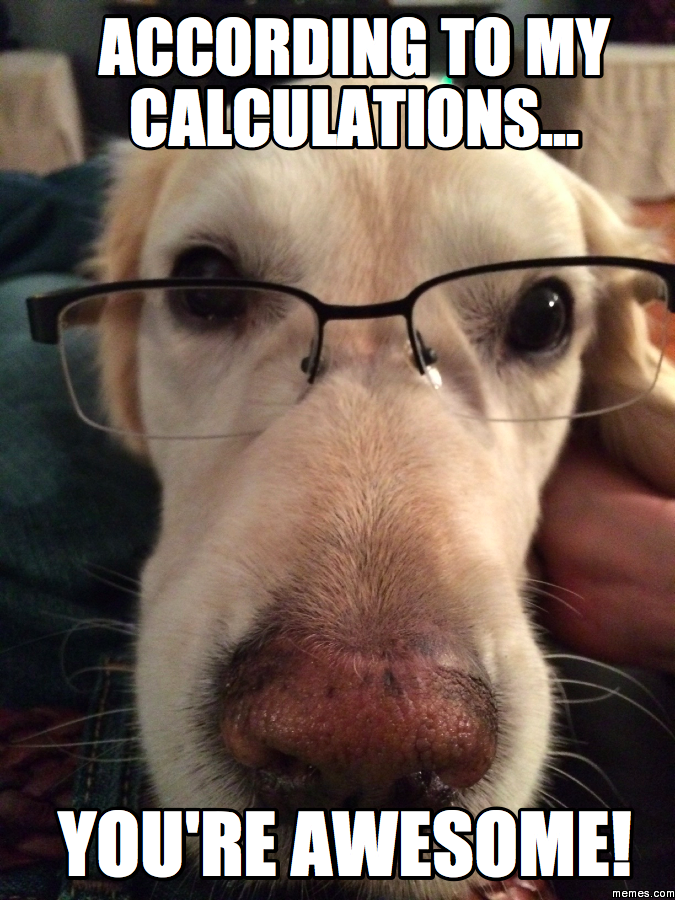 You Re Awesome Funny Memes : According to my calculations you re awesome memes