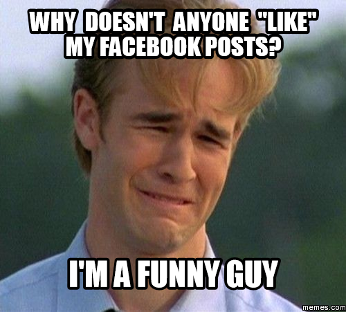 Fun Guy Meme : Why doesn t anyone quot like my facebook posts i m a funny