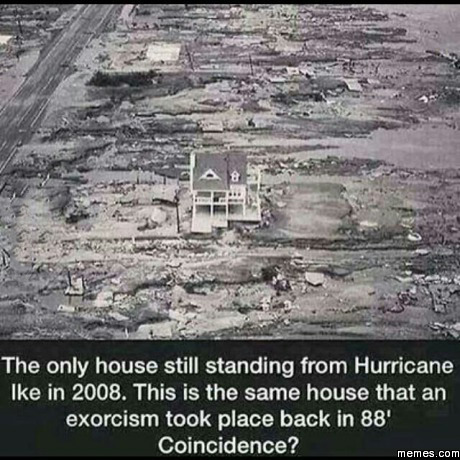 The only house still standing from Hurricane Ike