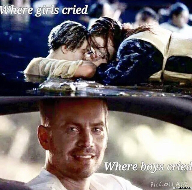Where girls cried and where boys cried
