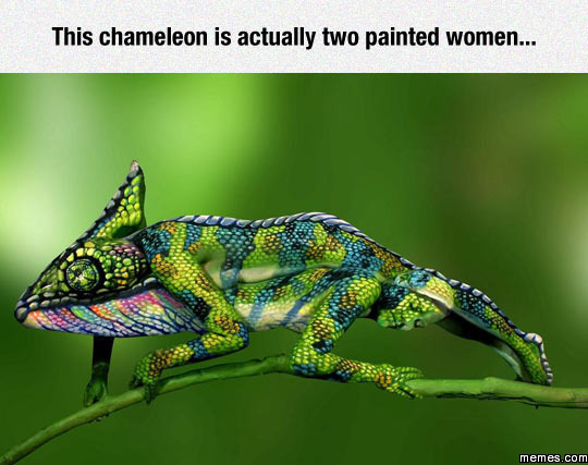 Actually two painted women