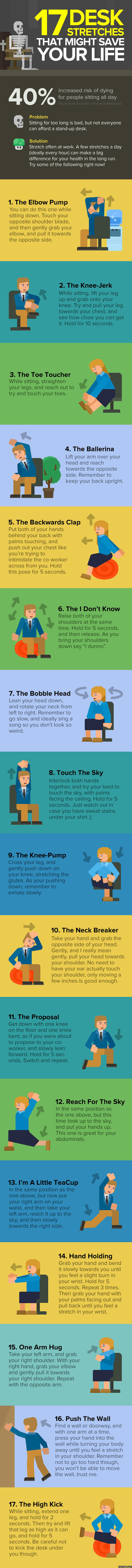17 Desk Stretches That Might Save Your Life