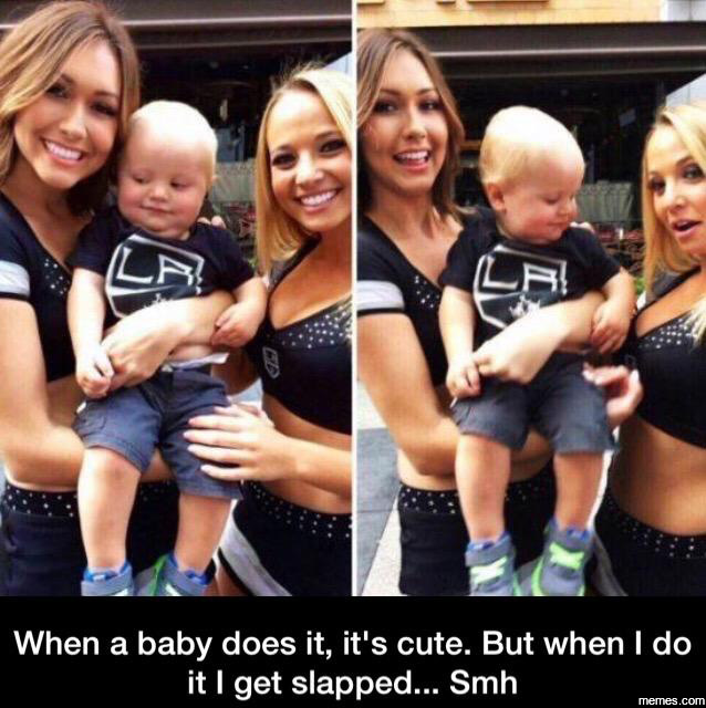 When a baby does it, it's cute