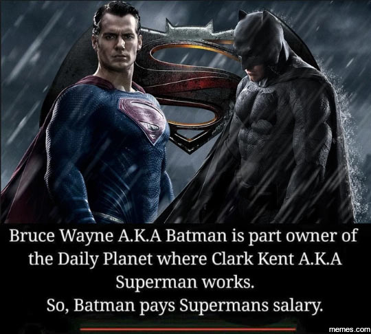 Bruce Wayne is part owner of the Daily Planet