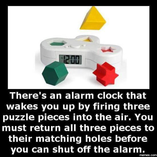 This alarm clock should come bullet proof as well