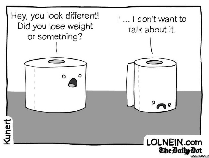 Did you lose weight or something