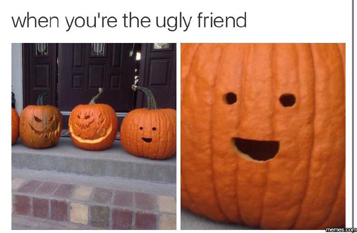 When you're the ugly friend