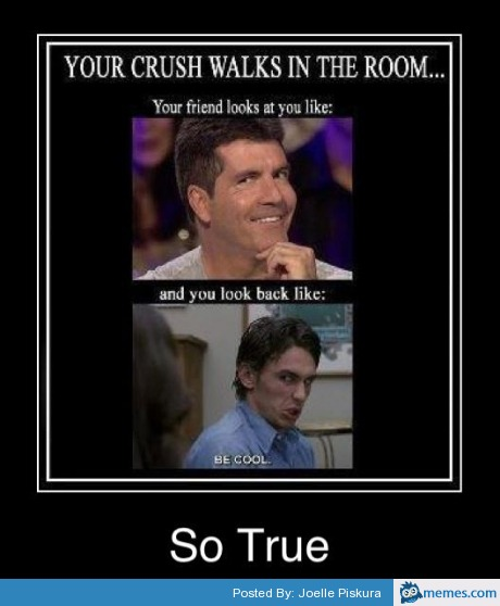 Funny Memes For Your Crush : When your crush walks into the room memes