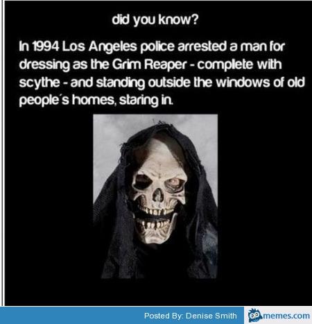 Arresting the grim reaper | Memes.com