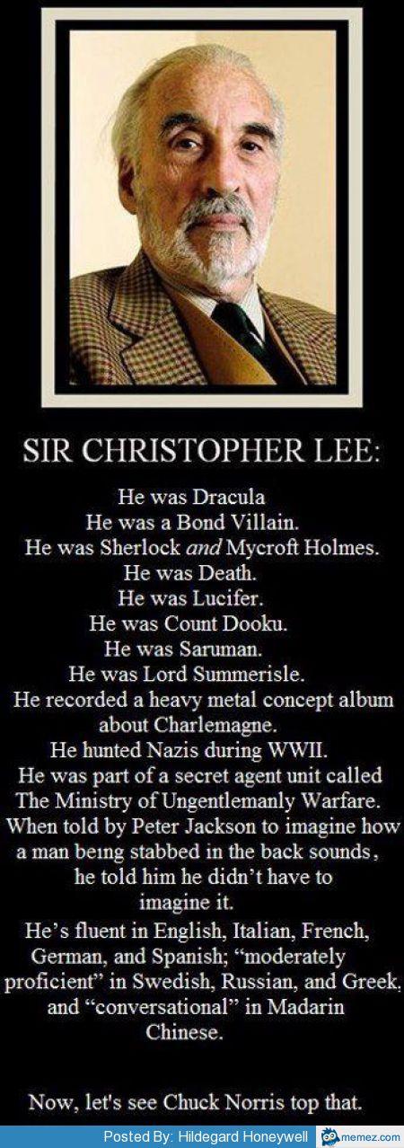 Farewell Sir Christopher Lee | Mark Shea