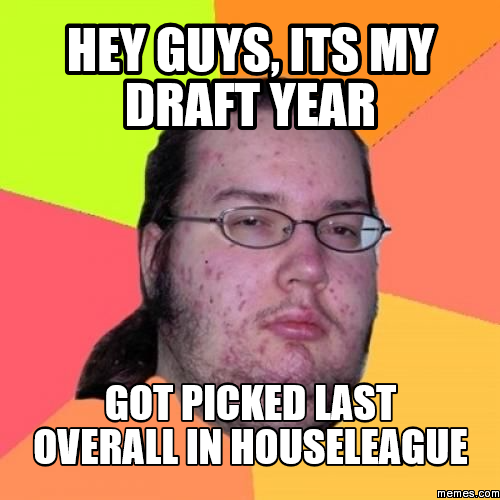 hey guys, its my draft year got picked last overall in ...