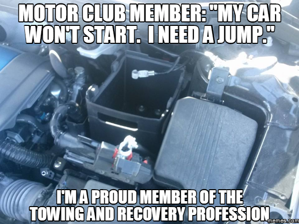 "Motor Club Member: ""My Car Won't Start. I Need A Jump."" I"