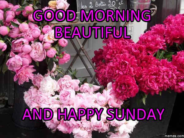 Good Morning Beautiful And Happy Sunday